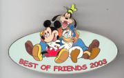 Disney Auctions Best Of Friends Hugs Goofy Donald Duck Mickey Mouse Le 100 Pin