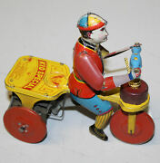 Behrend And Rothschild Kid Special Tin Boy On Scooter Wind Up Toy Lithographed