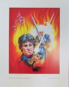 Kelly Freas Lithograph Haut Clare Signed/remarqued Mzb Fantasy Magazine 1991