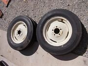 Allis Chalmers D14 Tractor Ac Rims And 6.00 X 16 6ply Super High Rib Front Tires