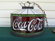 Coca Cola Leaded Glass Style Stained Glass Swag Light Dale Inc.