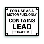 Contains Lead Decal Sticker For Vintage Gas Gasoline Pump Fits Sinclair Texaco