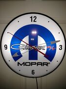 Mopar Charger R/t Vintage Pam Style Electric Wall Clock--- Oil Gas Signs