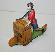 Tin Wind Up Kid Flyer Lithograph Toy Behrend And Rothschild