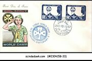 Philippines - 1957 Girl Scout World Camp-fdc 1-stamp Perf And 1-imperf