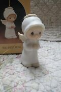 Precious Moments Ornament The First Noel Girl Angel Christmas/nativity Additions