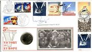 Benham Signed Coin Cover 1995 Victory In Europe Signed Ian Fraser Vc