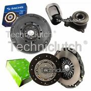 Luk 2 Part Clutch Kit And Sachs Dmf With Csc For Fiat Stilo Hatchback 1.9 D