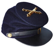 American Civil War Union Forage Cap Hat With Artillery Badge Large Size 58/59cms
