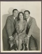 Fay Wray,william Powell,hal Skelly 1930 Linen Back Photo Behind The Makeup J2907