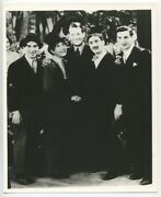 The Four Marx Brothers Candid On Set Photo Groucho Harpo Chico Zeppo 1940 Photo