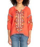 Johnny Was Juliene Candy Land Peasant Blouse