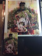 Very Rare Signed Hulk Lithograph By Ricardo Lopez Ortis Comic Book Artist