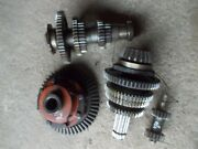 Farmall 400 450 Tractor Complete Set Up Low Pinion Ih Transmission Gears + Shaft