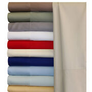 100 Bamboo Viscose Sheets Pillowcase Collection Solid 14 Colors / 7 Sizes