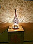 Moroccan Night Light Table Lamp Handmade Brass Silvered Decoration Lampshade Fez