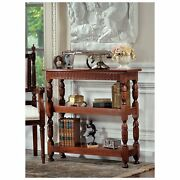 Af8075 Jacobean-style Triple Etagere - Handcarved Mahogany Antique Replica Table