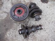 Farmall 400 450 Tractor Complete Set Up Low Pinion Ih Transmission Gears - Shaft