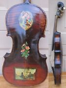 1892 Lyon And Healy Violin. Decalcomanie Italy Pics Patent Head. For Restoration