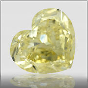 15.37 Ct Gia Fancy Yellow Vs2 Heart Shape Diamond Solitaire Engagement Ring 18k