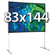 Draper 241181 - Ufs 83x144 Complete Screen System - Front Projection - T-legs