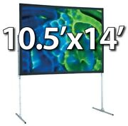 Draper 241012 - Ufs 10.5and039x14and039 Complete Screen System - Front Projection - T-legs