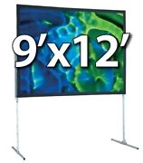 Draper 241076cd - Ufs 9and039x12and039 Complete Screen System - Dual Projection - T-legs