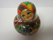 Signed Rare Vintage Hand Painted 10 Russian Nesting Dolls, Excellent Shape