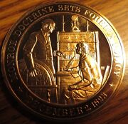 1823 Monroe Doctrine Sets Foreign Policy Franklin Mint Bronze Medal Token