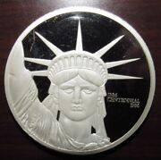 1986 Statue Of Liberty Centennial 10 Troy Oz. .9999 Silver Round - Mexican Mint