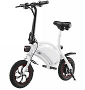 Foldable Electric Bike Collapsible Bicycle W/cruise Led Headlight Backlight 250w