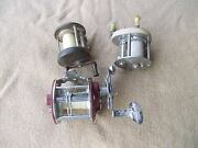 3 Vintage Antique Fishing Reels Pflueger Bond And Others Old Collectible