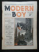 Modern Boy No. 5 Inc W E Johns Biggles Author March 19th 1938 - New Series