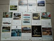 Lot Of 14 1964-66 Chevy Chevrolet Various Models Car Print Ads Magazine Vintage