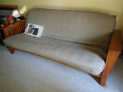 Stickley Full Size Solid Red Oak Futon || Red Oak || Sofa And Bed 84 X 50 3,000