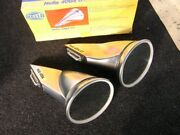 Hella Rally Mirrors Silver Light Weight Plastic Talbot Vintage Car Accessory Nos