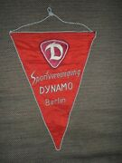 Dynamo Berlin Fc 1960's Football Soccer Embroidered Pennant Streamer Germany Ddr