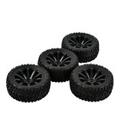1/10 Rc Rally Car Grain Rubber Tyres Off-road Tires And Wheels For Traxxas 4pcs