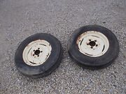 Allis Chalmers Wd45 Wd 45 Tractor Ac Rims And 6.00 X 16 6ply Armstrng Front Tires