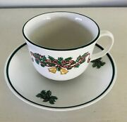 Victorian Christmas Cup And Saucer Johnson Brothers Holiday Dinnerware