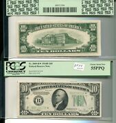 1934 D 10 New York Ny Green Seal Currency Star Note Pcgs Au 55 1002m