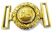 American Civil War Officers Confederate Cs Lettered Brass Belt Buckle 9x6cms New