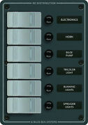 Blue Sea 6 Gang Vertical Switch Panel - 8053