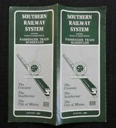 1968 Southern Railway System Crescent-southerner-city Of Miami Train Schedule