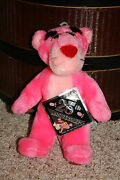New 1987 Htf 24k Company Pink Panther 25th Anniversary Plush Toy Suction Nwt S1