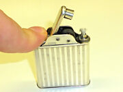 Vintage Rare Automatic Pocket Petrol Wick Lighter - 950 Sterling Silver