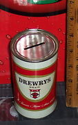 Drewrys 12 Ounce Steel Can Coin Bank