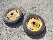 Massey Harris Pony Tractor Mh Press Steel Rims And 4.00 X15 Tires