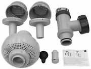 Intex 26005e-large Pool 1-1/2 Fittings Set 1900-2500gph With 2 1-1/4 Strainers