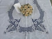 Tablecloth X12 In Pure Linen With Embroidery Cantu 'hand